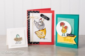 2017 Sale-a-Bration Hey Chick card samples on nwstamper.com
