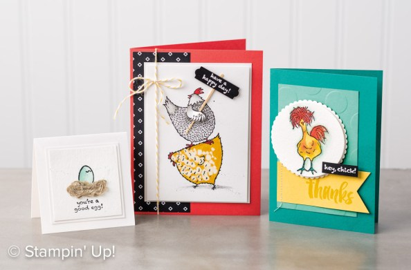 2017 Sale-a-Bration Hey Chick card samples on nwstamper.com