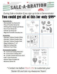 Sale-a-Bration starter kit flyer 2017