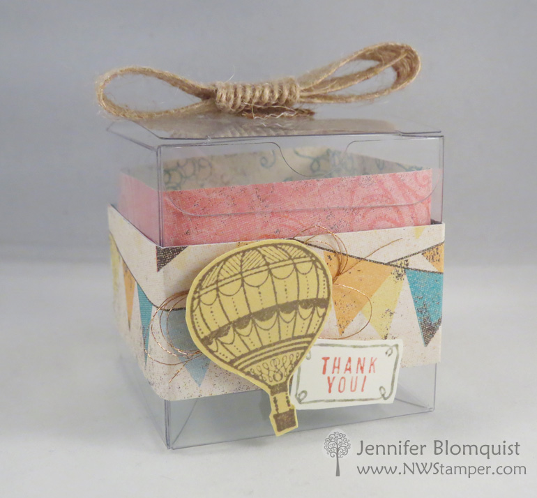 Medium Clear Favor Boxes : Make an easy favor box with the lift me up bundle