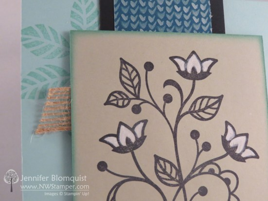 Close up of coloring with the chalk marker on crumb cake cardstock - Jennifer Blomquist, NWstamper.com