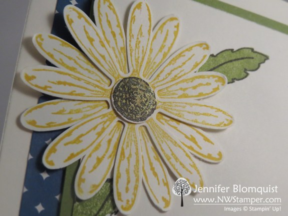 Layered Daisy Punch makes an easy card embellishment