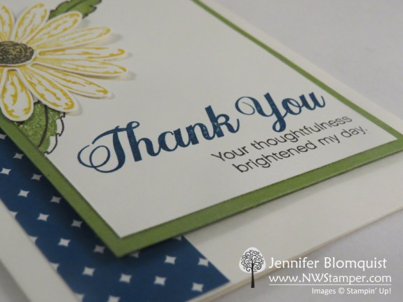 Great thank you sentiment from the Daisy Delight stamp set