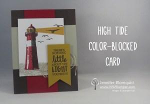 High Tide color blocked card