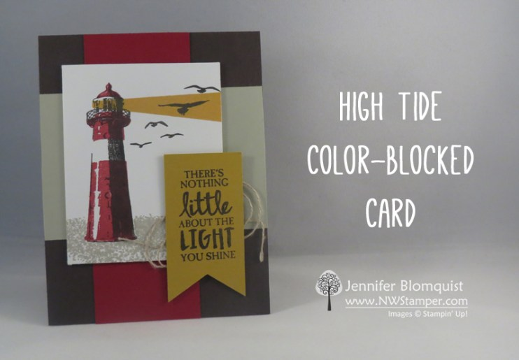 High Tide color blocked card