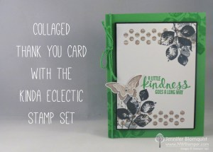 Kinda Eclectic Collaged Thank You Stampin' Up card