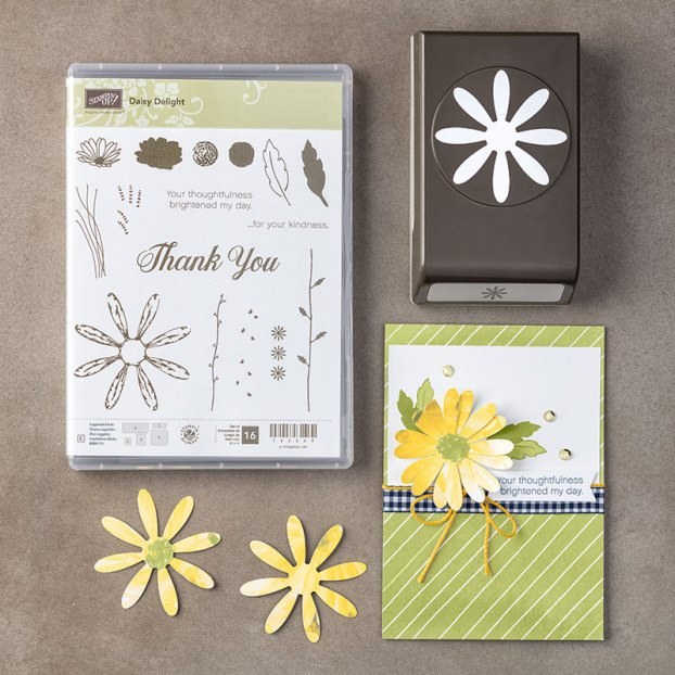 Stampn' Up Daisy Delight bundle with punch