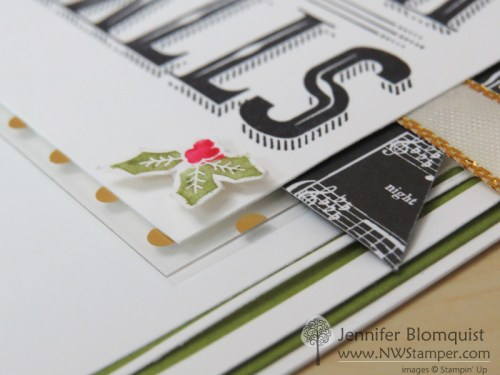 Fabulous foil acetate and holly berry card accent