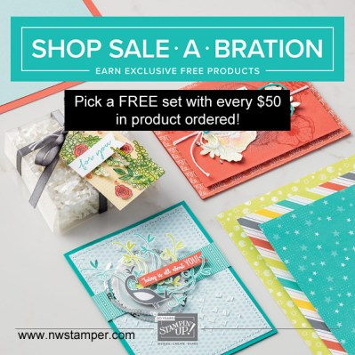 Earn free stamps with a $50 Stampin' Up order