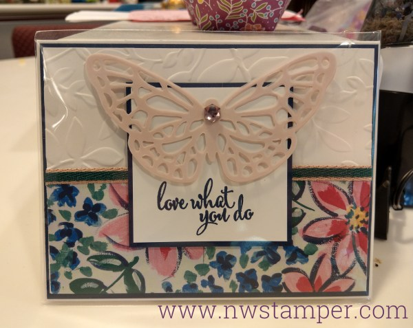 Love what you do butterfly card