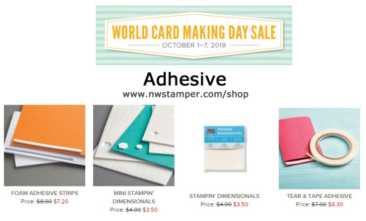 Adhesive on sale for World Card Making Day