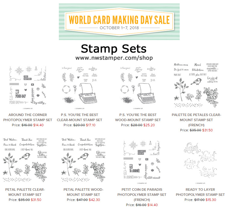 Sale on Stamp Sets for World Card Making Day