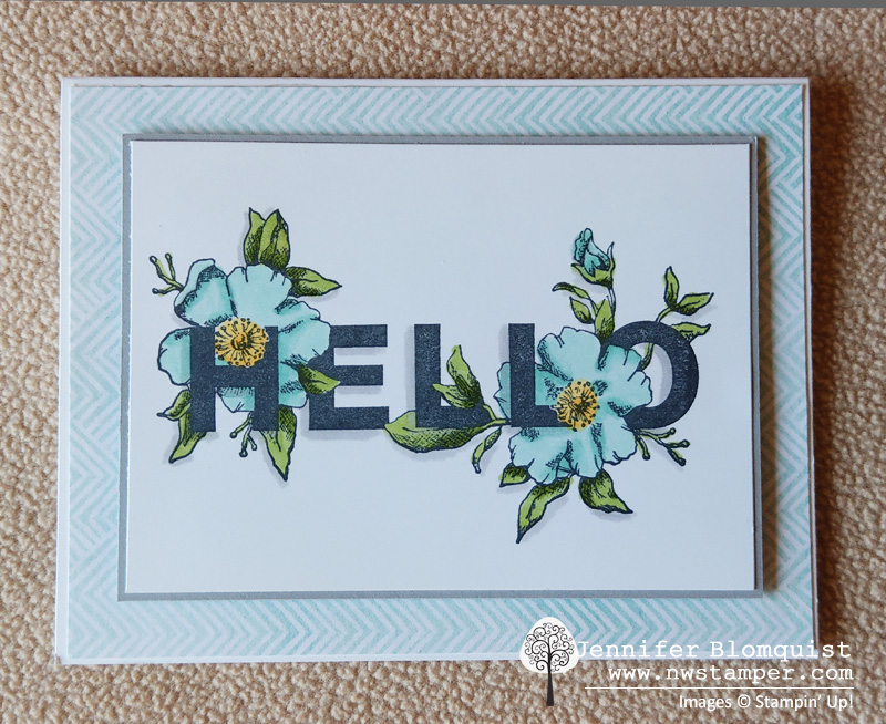Floral Phrases makes a great quick and simple card that is perfect for any hello or notecard
