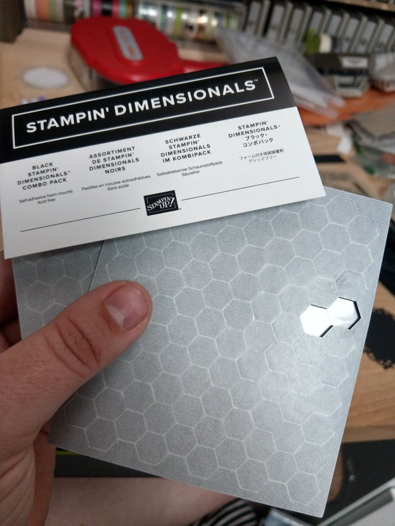 Black Stampin' Dimensional foam pop dots