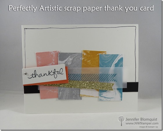 Perfectly Artistic scrap paper thank you card