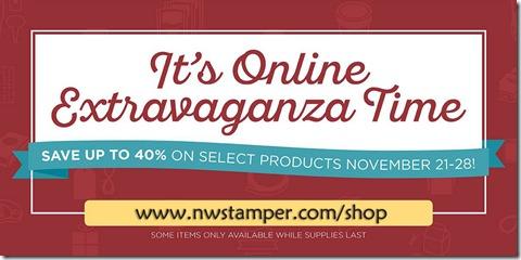 Online Extravaganza promo