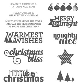 Christmas bliss stamps