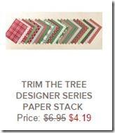 trim the tree designer paper stack