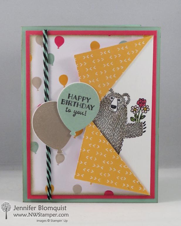 Bear Hugs Birthday Card with the Collar Fold Technique Northwest – How to Do Birthday Card