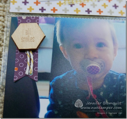 Happiness is accessory pack wood embellishment close up