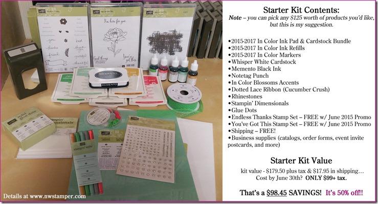 June 2015 Starter Kit value suggestion