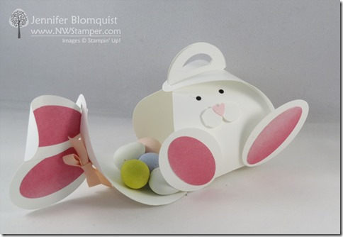 Easter Bunny Curvy Keepsake Box Open