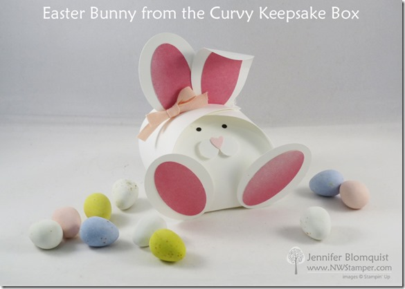 Easter bunny box from the curvy keepsake die