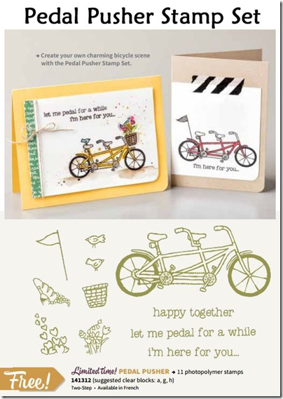 Pedal Pushers stamp set and samples