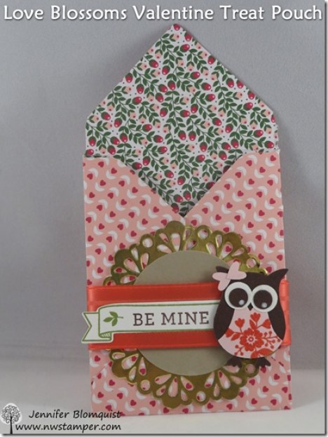 Love Blossoms Envelope Punch Board Valentine Treat Bag