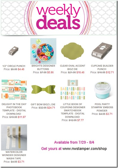 weekly deal 7-29-14
