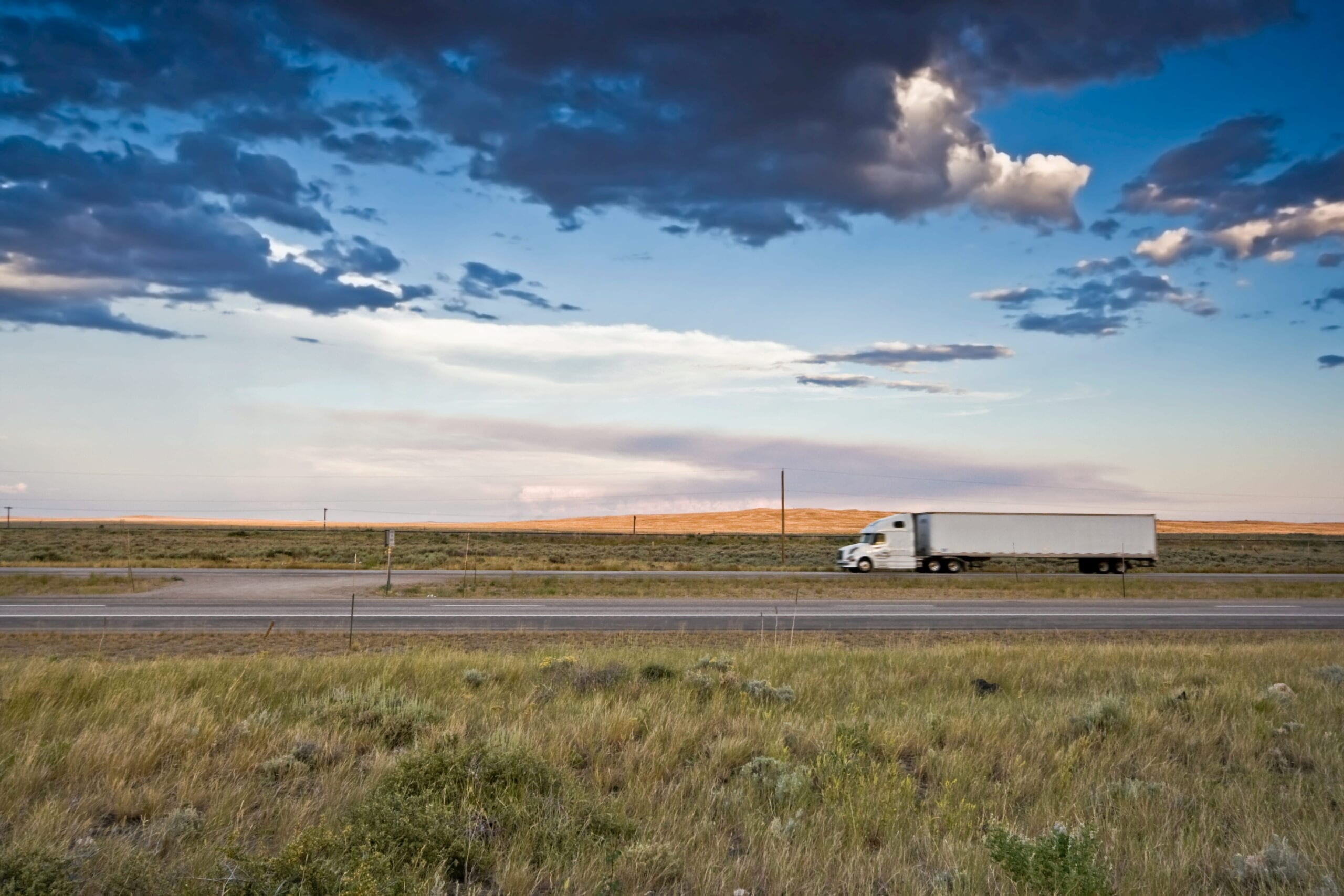 Truck in a field