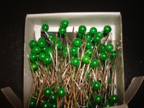 Apple Green Corsage Pins