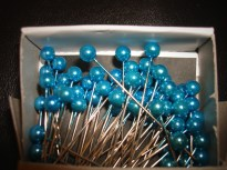 Blue Corsage Pins