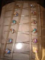 Iridescent Corsage Pins