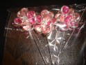 Strong Pink Gem Flower Pins