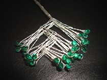 Emerald Rhinestone Spray