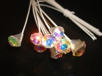 Large Iridescent Rhinestone Spray