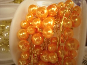 Tangerine Beaded Wire
