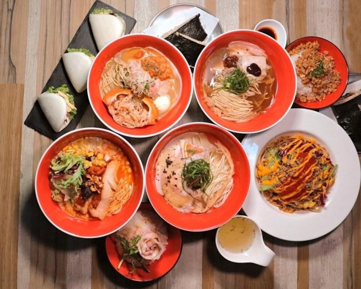 A spread of dishes at Tsuta