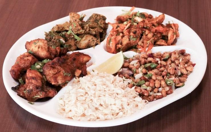 A plate of Nepali Khaja from Everest Kitchen