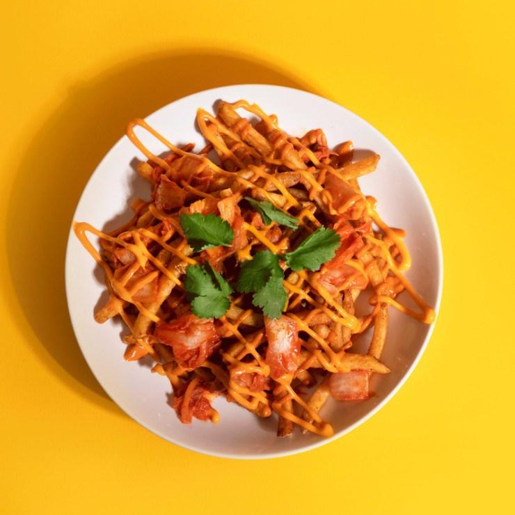 Loaded Kimchi Fries