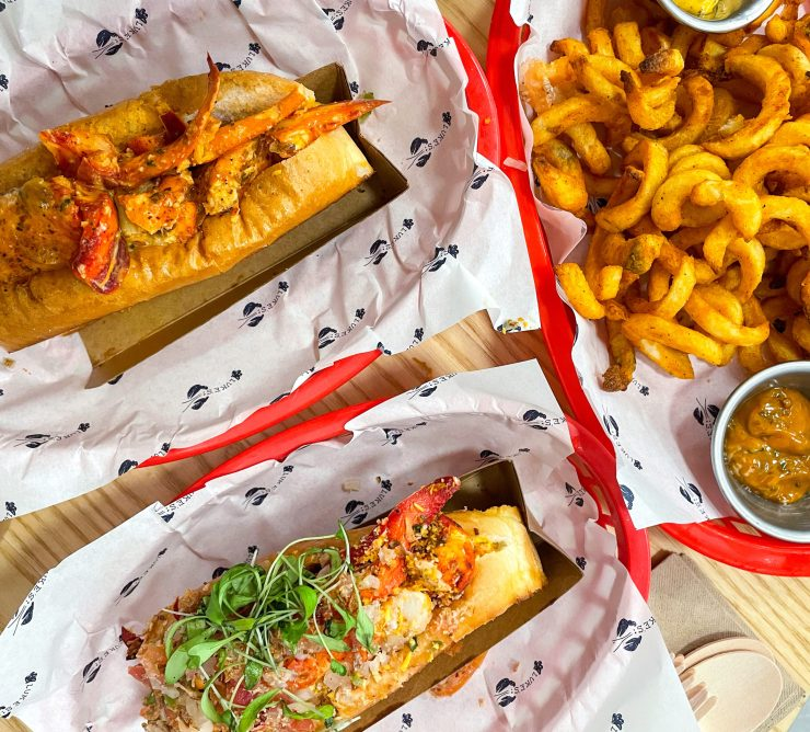 a flatlay of luke's lobster's new flavours