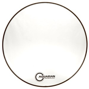 Aquarian Classic Clear 22″ Bass Drumhead with KP1