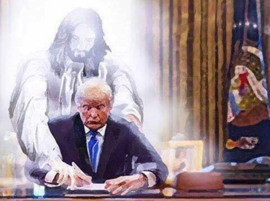 A graphic potraying that Jesus Christ would support Donald Trump's decision to sign a new law against abortion and LGBT rights on US soil(Photo: supplied)