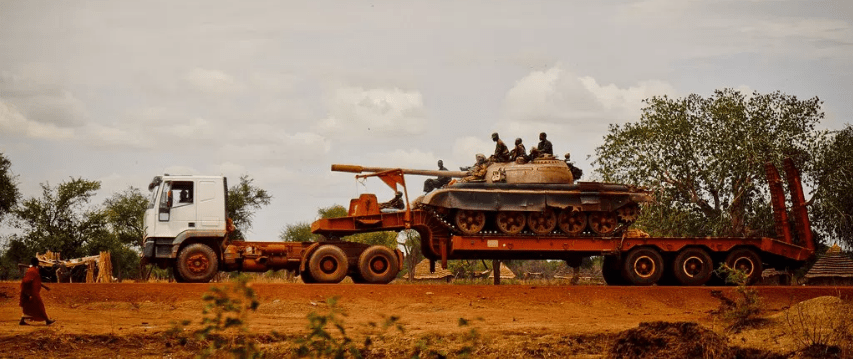 Early Warning of Attacks on Civilians. SPLA Tank, Turalei(Photo: file)