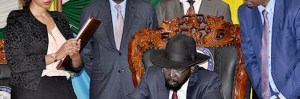 IGAD leaders pursued Salva Kiir to Juba to sign a peace agreement he refused to sign in Addis Ababa, Ethiopia(Photo: file)