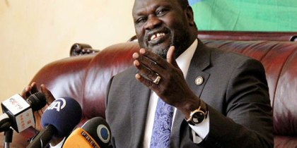 Former First Vice President and SPLM-IO leader Dr. Riek Machar Teny (Photo credit: AFP)