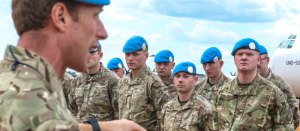 Members of Royal British troops serving in UN peacekeeping forces (Photo credit: supplied)