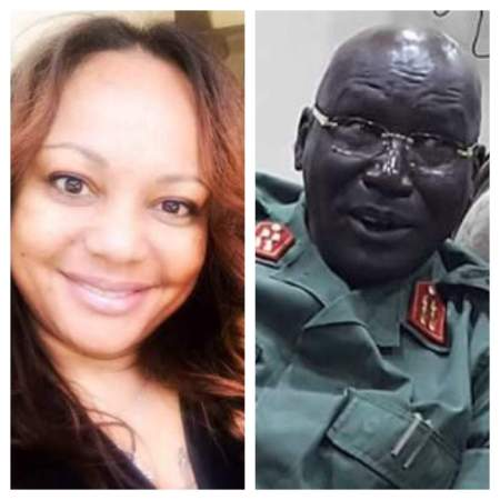 An edited image of Suzanne Jambo and Gen. Paul Malong Awan(Photo: supplied)