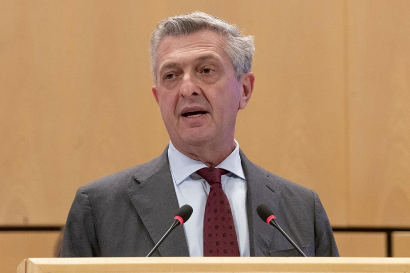 Filippo Grandi, United Nations High Commissioner for Refugees, speaks during the sixty-ninth session of the Executive Committee (Photo credit: File/Supplied/UNHCR)